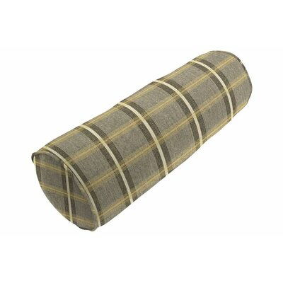 Sunbrella Single Piped Bolster Pillow Color: Holmes Flannel