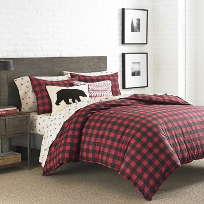 Mountain Plaid 3 Piece Reversible Duvet Cover Set Size: Full Queen