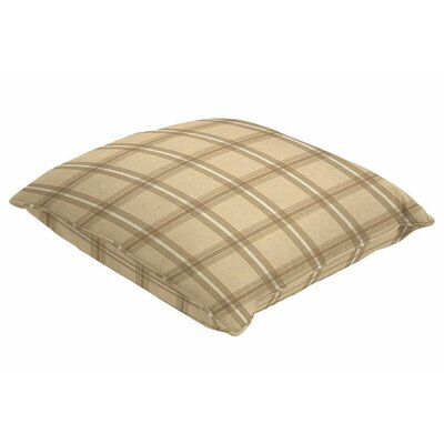 Sunbrella Single Piped Throw Pillow Color: Holmes Latte, Size: 18 H x 18 W