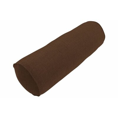 Sunbrella Single Piped Bolster Pillow Color: Spectrum Coffee