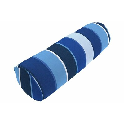 Outdoor Sunbrella Single Piped Bolster Pillow Color: Milano Cobalt