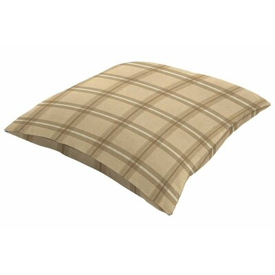 Sunbrella Knife Edge Throw Pillow Color: Holmes Latte, Size: 18 H x 18 W