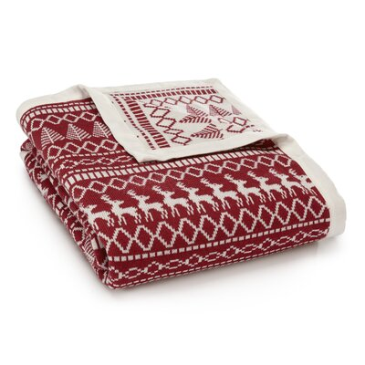 Alpine Throw Color: Red