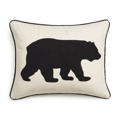 Bear Cotton Lumber Pillow Color: Black