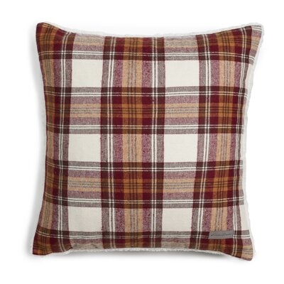 Edgewood Plaid Cotton Throw Pillow Color: Red