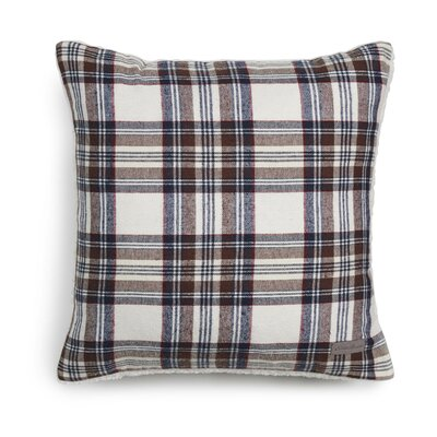 Edgewood Plaid Cotton Throw Pillow Color: Khaki