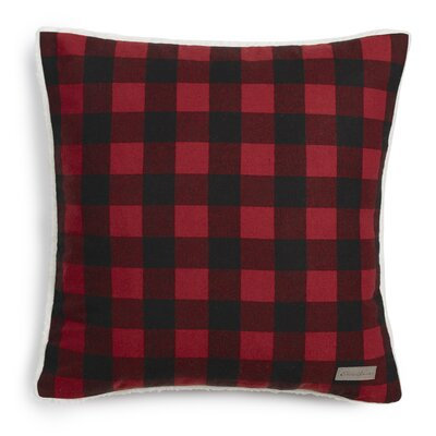 Cabin Plaid Flannel Cotton Throw Pillow