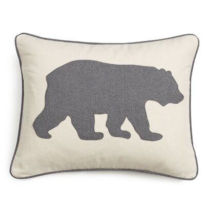 Bear Cotton Lumber Pillow Color: Gray