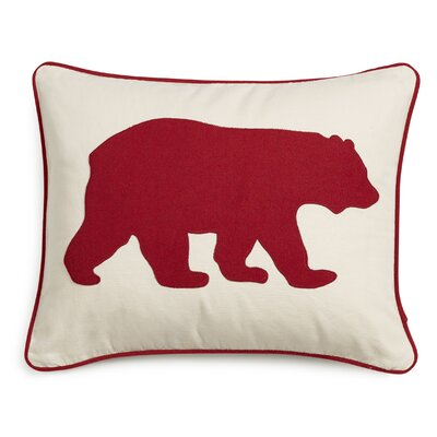 Bear Cotton Lumber Pillow Color: Red