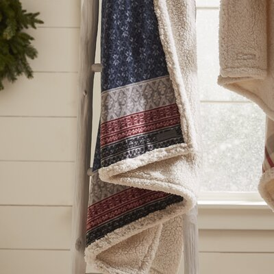Fairisle Indiana Fleece Throw Blanket Color: Midnight