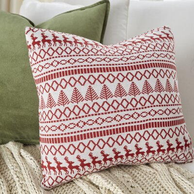 Alpine Throw Pillow Color: Red