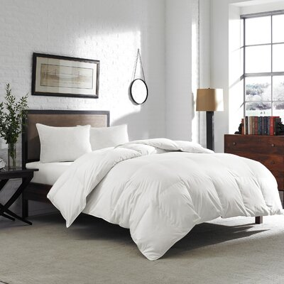600 Fill Power Down Comforter Size: Queen