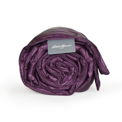 700 Fill Power Down Throw Color: Deep Purple