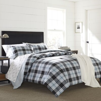 Lewis Plaid 2 Piece Duvet Set Size: King