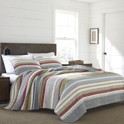 Salmon Ladder Quilt Set Size: King