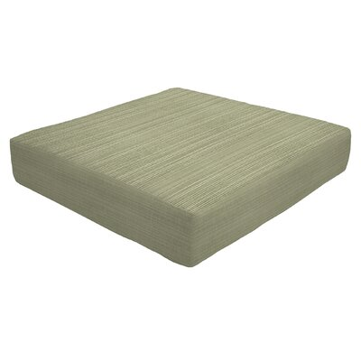 Knife Edge Outdoor Sunbrella Ottoman Cushion Size: 5 H x 24 W x 24 D