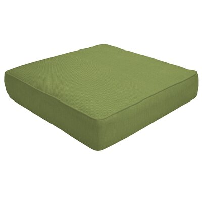 Double Piped Outdoor Sunbrella Ottoman Cushion Size: 5 H x 26 W x 24 D, Fabric: Cilantro
