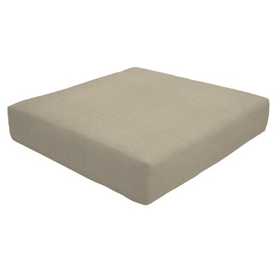 Knife Edge Outdoor Sunbrella Ottoman Cushion Fabric: Taupe, Size: 5 H x 24 W x 24 D