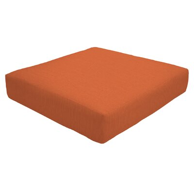 Knife Edge Outdoor Sunbrella Ottoman Cushion Size: 5 H x 24 W x 24 D, Fabric: Cayenne
