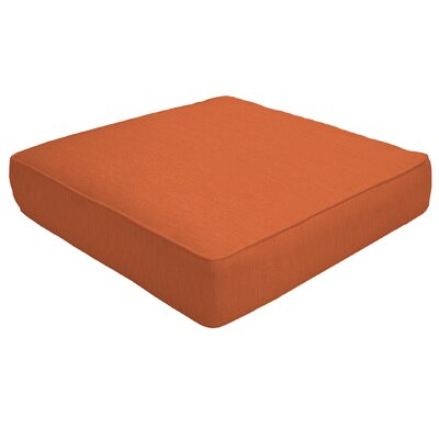 Double Piped Outdoor Sunbrella Ottoman Cushion Fabric: Cayenne, Size: 5 H x 23 W x 20 D