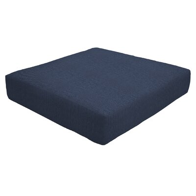 Knife Edge Outdoor Sunbrella Ottoman Cushion Fabric: Indigo, Size: 5 H x 24 W x 24 D