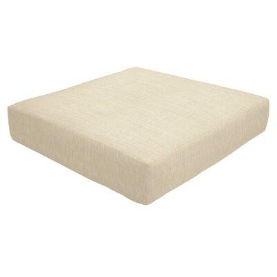 Knife Edge Outdoor Sunbrella Ottoman Cushion Size: 5 H x 26 W x 24 D, Fabric: Flax
