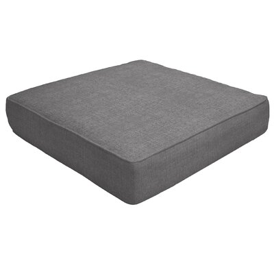 Double Piped Outdoor Sunbrella Ottoman Cushion Fabric: Slate, Size: 5 H x 23 W x 20 D