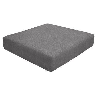 Knife Edge Outdoor Sunbrella Ottoman Cushion Fabric: Slate, Size: 5