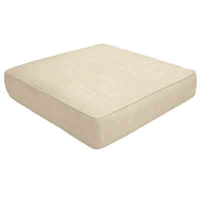 Double Piped Outdoor Sunbrella Ottoman Cushion Size: 5 H x 24 W x 24 D, Fabric: Flax