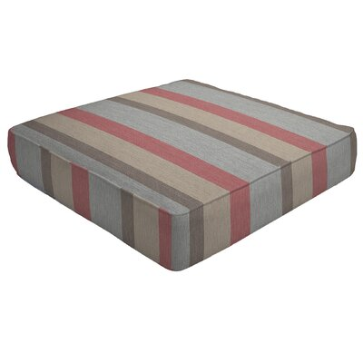 Double Piped Outdoor Sunbrella Ottoman Cushion Size: 5 H x 24 W x 24 D