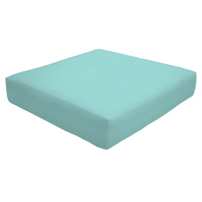 Knife Edge Outdoor Sunbrella Ottoman Cushion Fabric: Aruba, Size: 5 H x 24 W x 24 D