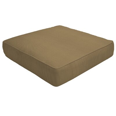 Double Piped Outdoor Sunbrella Ottoman Cushion Fabric: Caribou, Size: 5 H x 24 W x 24 D