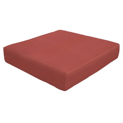 Knife Edge Outdoor Sunbrella Ottoman Cushion Fabric: Henna, Size: 5 H x 24 W x 24 D