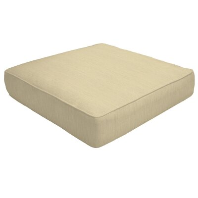 Double Piped Outdoor Sunbrella Ottoman Cushion Fabric: Sand, Size: 5 H x 23 W x 20 D