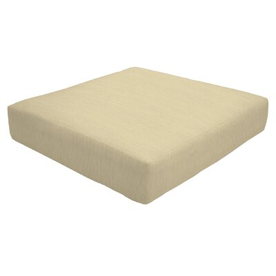 Knife Edge Outdoor Sunbrella Ottoman Cushion Fabric: Sand, Size: 5 H x 26 W x 24 D