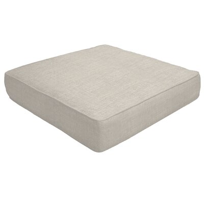 Double Piped Outdoor Sunbrella Ottoman Cushion Size: 5 H x 26 W x 24 D, Fabric: Silver