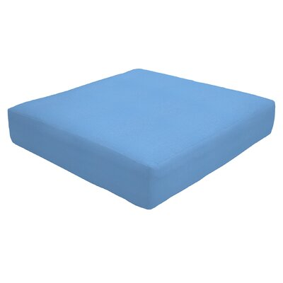 Knife Edge Outdoor Sunbrella Ottoman Cushion Fabric: Capri, Size: 5 H x 26 W x 24 D