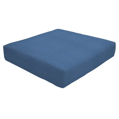 Knife Edge Outdoor Sunbrella Ottoman Cushion Size: 5 H x 23 W x 20 D, Fabric: Regatta