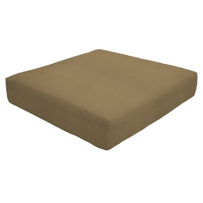 Knife Edge Outdoor Sunbrella Ottoman Cushion Fabric: Caribou, Size: 5 H x 26 W x 24 D