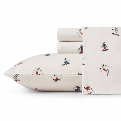 Ski Slope Flannel Sheet Set Size: Twin