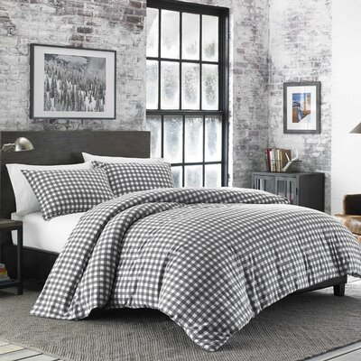 Preston Flannel Duvet Cover Set Size: Full/Queen