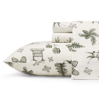Alpine Chalet Flannel Sheet Set Size: Queen