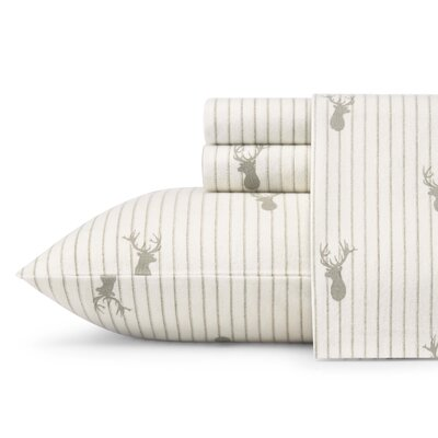 Deer Lodge Flannel Sheet Set Size: Queen