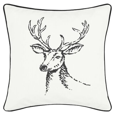 Winter Morning Stag 100% Cotton Throw Pillow