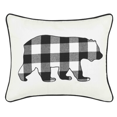 Cabin Plaid Bear Breakfast 100% Cotton Breakfast Pillow