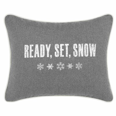 Ready Set Snow Breakfast Pillow