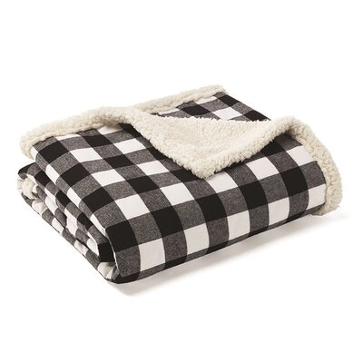 Cabin Plaid Sherpa Fleece Cotton Throw
