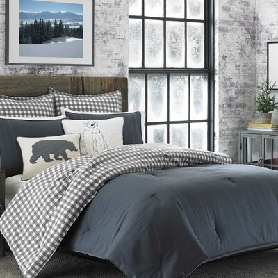 Kingston 100% Cotton 2 Piece Reversible Comforter Set Size: Full/Queen