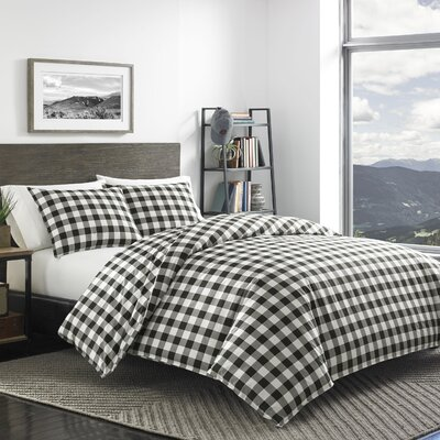 Mountain Plaid 100% Cotton Duvet Cover Set Size: King