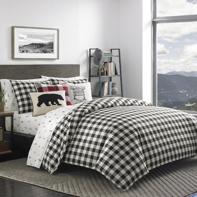 Mountain Plaid 100% Cotton Comforter Set Size: Full/Queen